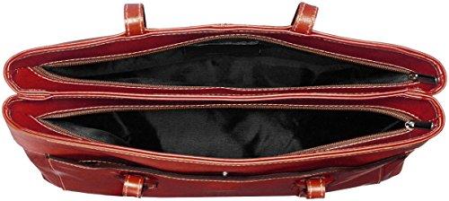 Made Mano Cuero 32x24x13cm Marrón 100 Italy Ctm La Taleguilla Bolsa In Genuino Mujer Mujer marrone De fqwFP8pS
