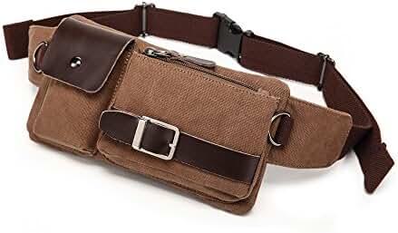 BAOSHA YB-01 Vintage Men's Waist Bag Sports Waist Pack Bum Bag Security Money Waist Day Pack Pouch Hip Belt Bag Bumbag