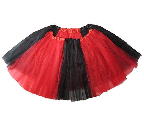 Southern Wrag Company ADULT FUN RUN Tutu (XXL:TUTU WAIST 50-85, BLACK RED TUTU) (Harley Quinn Costume Teen)
