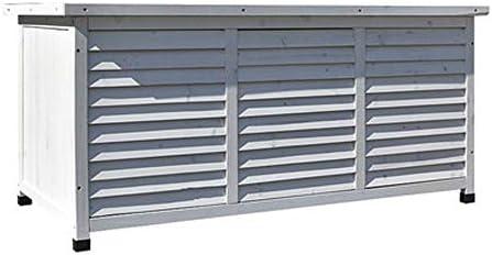 屋外ロッカー ソリッドウッド工具収納ボックス低ストレージキャビネット防水屋外バルコニーガーデンコートヤード バルコニーロッカー (色 : White, Size : 132.2x66x60.5cm)