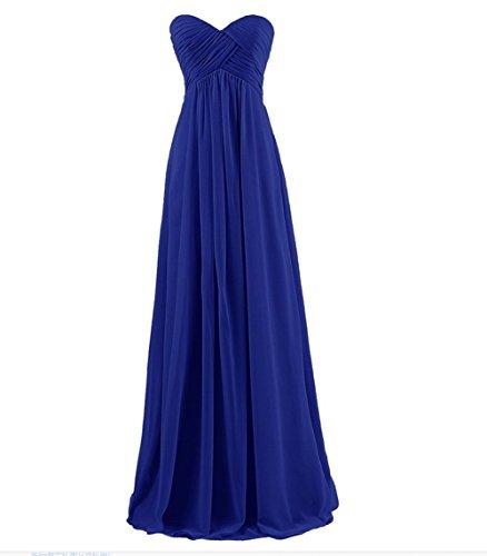 Chiffon Prom Sweetheart Long Dress Evening AK Beauty Women's Royal Blue YOqUxt4
