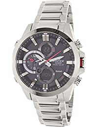 Casio Men's Edifice ECB500D-1A Silver Stainless-Steel Quartz Watch