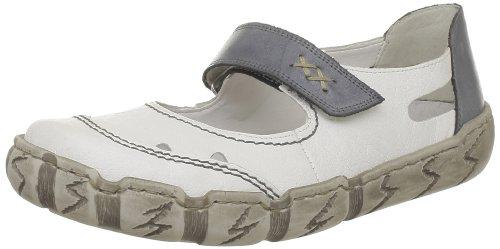Rieker womens slipper white/denim White/Denim cTBLZ