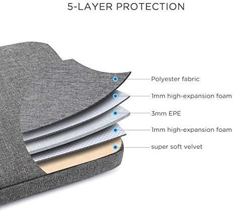 DOMISO 15-15,6 Pouces Imperm/éable Housse Sac de Protection Ordinateur Portable Sacoche pour 15.6 Lenovo Yoga 730//ThinkPad T580//ASUS ROG Zephyrus//DellAcer////HP//Dell,Rouge