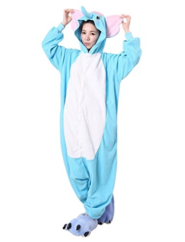 Simple Good Halloween Costumes (iNewbetter Halloween Costumes Sleepsuit Costume Cosplay Kigurumi Onesie Pajamas Elephant S)
