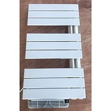 Seche serviette EC barre acier blanc H830mm L450mm CC 406W + ...