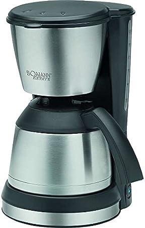 Acero inoxidable Cafetera con aprox. 1,2 litros jarra térmica – Cafetera Jarra Térmica (filtro eléctrica café de filtro (Sparsame 800 W + Negro/Plata): Amazon.es: Hogar