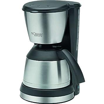 Acero inoxidable Cafetera con aprox. 1,2 litros jarra térmica - Cafetera Jarra Térmica (filtro eléctrica café de filtro (Sparsame 800 W + Negro/Plata): ...