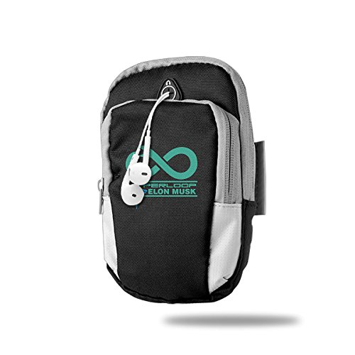 Elon Musk Hyperloop Outdoor Sports Armband Arm Package Bag Cell Phone Bag Key Holder For Iphone 6/6s/7/7p One Size Black