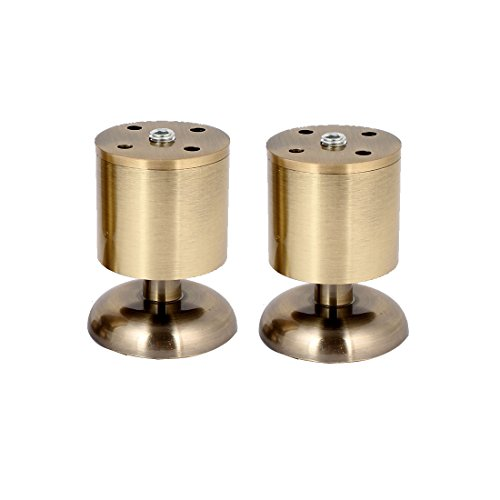 uxcell Kitchen Cabinet Cupboard 80mm Metal Adjustable Furniture Leg Bronze Tone 4pcs by uxcell (Image #1)