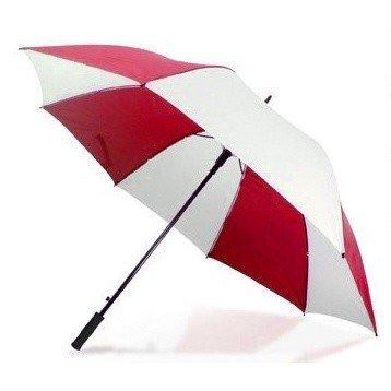 Hombre/Mujer Unisex PEVA Premium 190T seda Golf Paraguas, rojo / blanco (Rojo