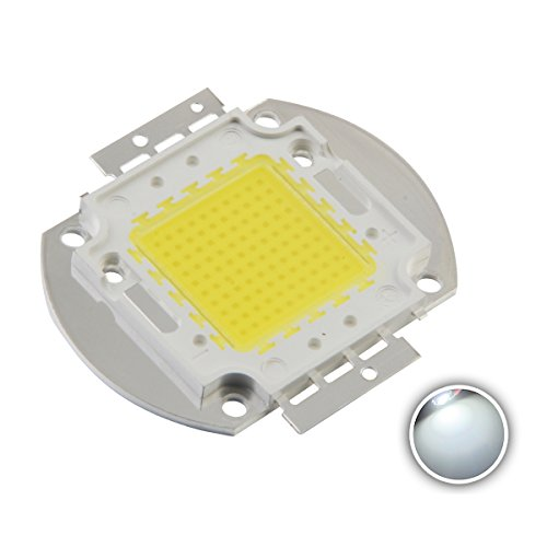 Chanzon High Power Led Chip 100W White (6000K-6500K / 3000mA / DC 30V-34V / 100 Watt) Super Bright Intensity SMD COB Light Emitter Components Diode 100 W Bulb Lamp Beads DIY Lighting (Smd Chip)
