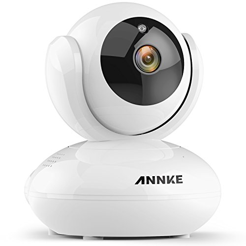 ANNKE IP Camera 720P Smart Wireless Security Camera,Plug and Play, Motion Detection, Mobile Push Alerts