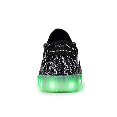 Joansam 7 Colori Led Luminoso Sneakers Unisex Uomo & Donna Luce Ricarica Usb Colorato Incandescente Per Il Tempo Libero Scarpe Sprot Scarpe Black3