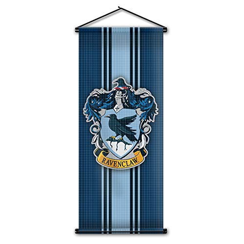 Harry Potter Style Striped Banner - Ravenclaw Flag 43in x 16in - High Quality Wall Scroll - Ready to Hang - Perfect Barware Man Cave Gift - Unique HP Collectible -