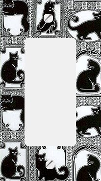 Art Nouveau Cats GFI Rocker Switchplate Cover