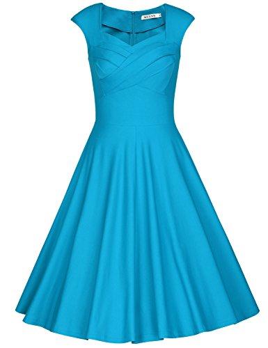 light blue short dress - 6