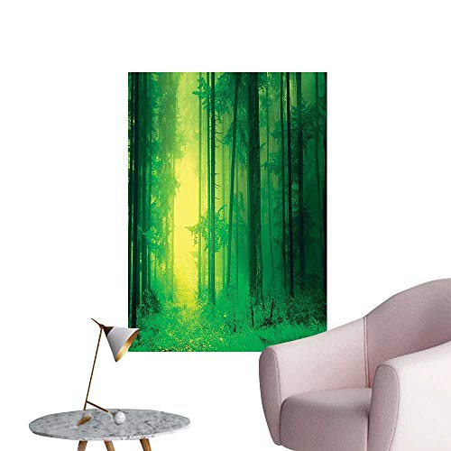Wall Painting Fantasy SPR gtime Tall TRE Magical Light Fairytale Twilight Green High-Definition Design,20