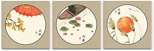 3 Panel Chinese Style Painting Wall Bedroom Living Room x3 Panels
