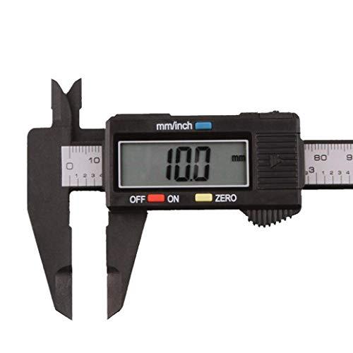 (150mm/6inch LCD Digital Electronic Carbon Fiber Vernier Caliper Gauge Micrometer (Black))