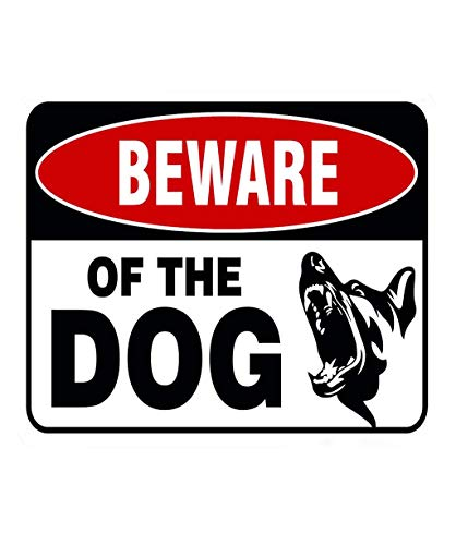 Vacally Metal Sign Beware Of The Dog Logo Iron Sign, There Are Dogs Metal Warning Sign Plaque Pub Bar Vintage Retro Wall Decor Poster Home Club Tavern Door Wall