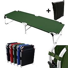 Hunter Green Camping Folding Military Cot Outdoor + Free Storage Bag