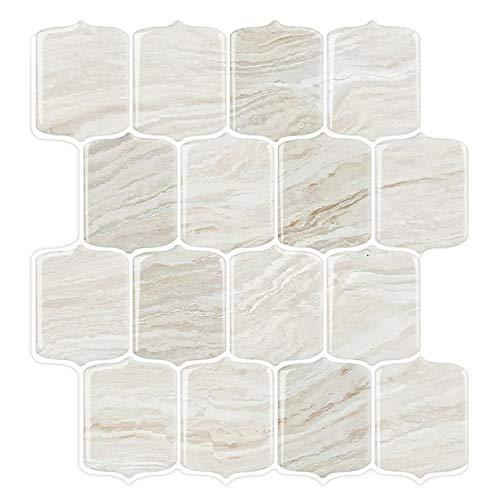 STICKGOO Marble Look Peel and Stick Backsplash Tile, Stick on Tiles for Kitchen Backsplash, Peel and Stick Tile in Shale (Pack of 10, Thicker Design)