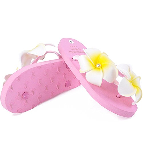Flip Flops Sandaler For Kvinner-sommer Strand Tøffel Skli Klipp Toe Lysbilder Rosa