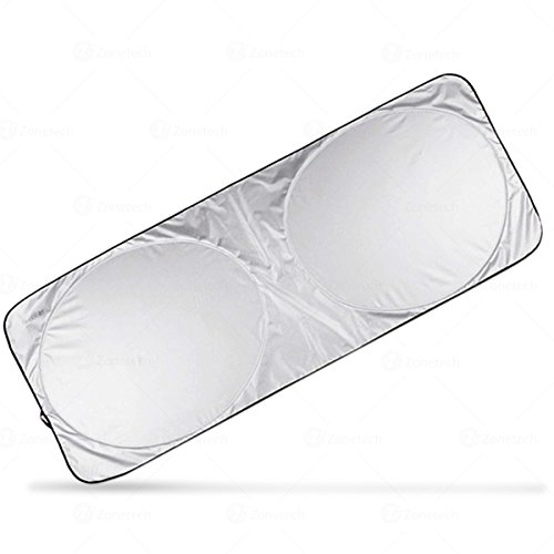 Nylon Jumbo Windshield Magic Sunshade - Zone Tech Premium Quality Super Jumbo Nylon Reflective Car Magic Sunshade