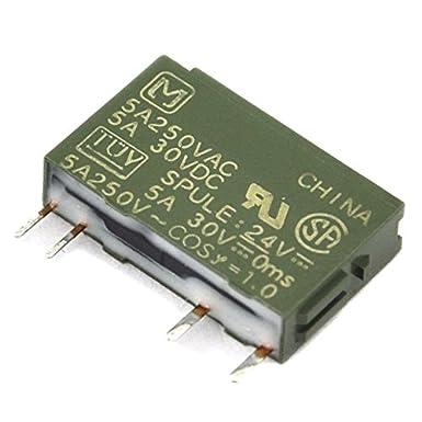 electronics-salon 50pcs Panasonic pa1a-24V 24VDC SPST 5amperios Slim Power Relay.