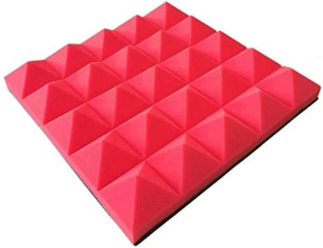 10ピース多目的音響パネルオフィス、屋内遮音寝室リビングルームホテル多機能カラー吸音綿(色:紫) (Color : Red)