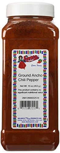 Bolner's Fiesta Extra Fancy Ground Ancho Chili Powder, 16 Oz.