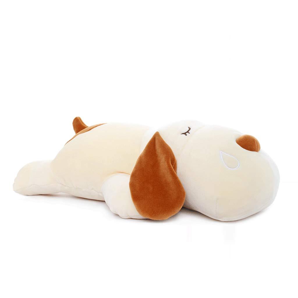 Animales y figuras Juguetes de Peluche para niños Snooze Dog Toys Card Love Dog Almohada Ragdoll Regalo de cumpleaños para niños Cute Sleeping Pillow (Color : Blanco, Size : 85cm15cm)