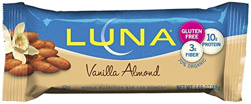 LUNA BAR - Gluten Free Bar - Vanilla Almond - (1.69 oz, 15 Count)