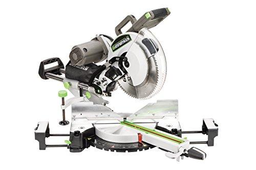 Genesis GMSDB1215LF 15 Amp 12″ Dual-Bevel Sliding Compound Miter Saw with Laser