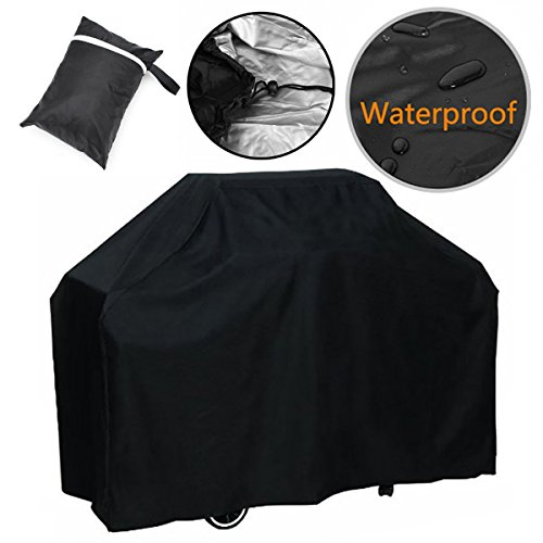 BBQ Grill Cover, 57-Inch Heavy Duty Waterproof & Weather Resistant Gas Grill Cover for Weber, Brinkmann, Char Broil, Holland and Jenn Air