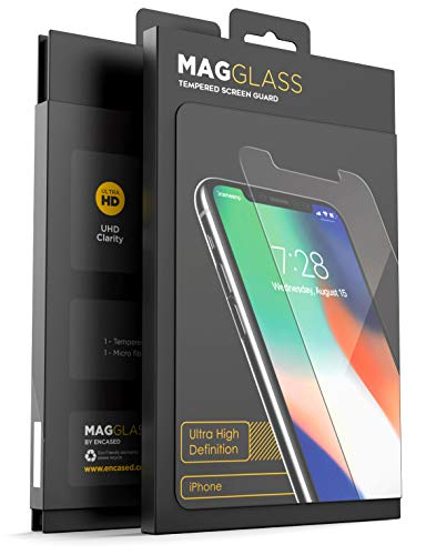 Magglass iPhone XR Full Screen Protector (Shatterproof) Case Compatible Tempered Glass Full Adhesive Glue Edge to Edge Coverage Phone Screen Guard ()