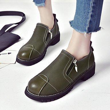 5 EU38 Zipper UK5 Caída Formales Gris US7 Verde Negro Caminar Pulg La 3 1 Chunky Parte Mujer Traje Pu Zapatos Noche Zapatos Talón amp;Amp; De 1A 4 5 Tacones Formales CN38 Casual fnpxqZ