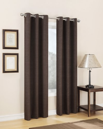 Easy Care Fabrics Solid Thermal Foam Backed Window Covering Curtain