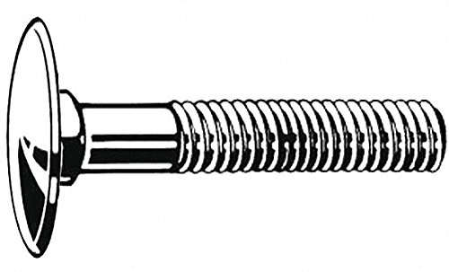 1-1/2'' Steel Step Bolt, Grade A307B, Plain Finish, 1/4''-20 Dia/Thread Size, 900 PK by FABORY