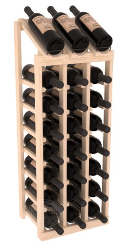 (Wine Racks America Ponderosa Pine 3 Column 8 Row Display Top Kit. Unstained)