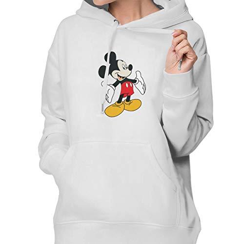 Shenigon Cartoon Mickey Mouse Women's Hoodie Sweatshirt with Pocket S ()