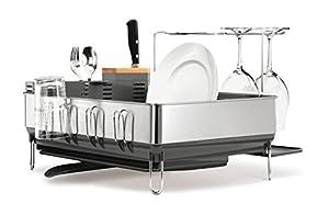 Amazon Com Simplehuman Steel Frame Dish Rack With Wine