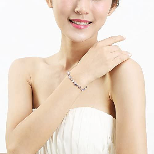 1480 Glamorousky Crystal Ball /& Diamond Bracelet with Blue Austrian Element Crystals