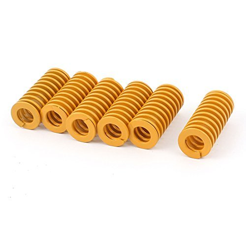 DealMux Stamping Compression Mould Die Spring Coil 40mm x 18mm 6Pcs Yellow DLM-B018RSQA0A