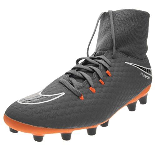 Bota Nike Hypervenom Phantom III Academy DF AG-Pro, Color Gris / Naranja