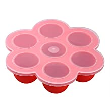 Honeyhome Baby Food Container Tray/Flower Mold for Muffins/Mince Pies/Cupcake/Yogurt/Ice Cube,BPA Free & FDA Approved