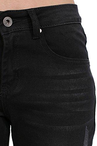 negro los cosecharon dobladillo con pantalones PILOT® vaqueros flecos cKq0PAAywB