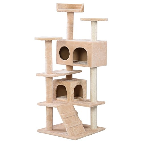 mk. park – New Cat Tree Tower Condo Furniture Scratch Post Kitty Pet House Play Beige Review