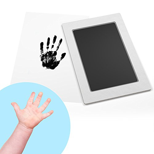 Baby Safe Ink Pad: Clean-Touch Baby Footprint & Handprint Kit, 2 Uses, Mess-Free Baby Keepsake Gifts, Black Ink Extra Large 4 x 6 inch, 2 (Hampton Cologne)
